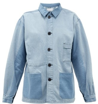 Raey Patch-pocket Denim Jacket - Blue