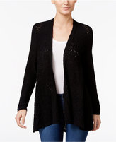 Style&Co. Style & Co Petite Open-Front Pointelle Cardigan, Only at Macy's