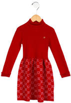 Gucci Girls' Wool Logo Pattern Dress