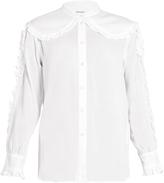 Masscob Hindi ruffle-trimmed cotton-gauze blouse