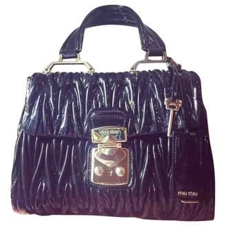Miu Miu Matelasse Black Patent leather Handbags