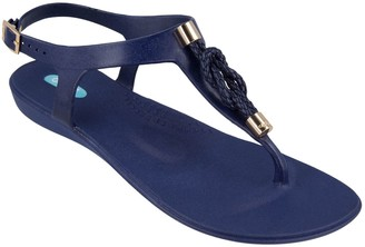 OKA b. OkaB Rope Knot T-strap Sandals - Neptune