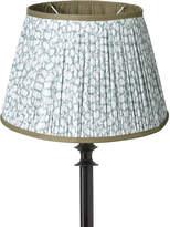 OKA 14cm Guilloche Pleated Cotton Drum Lampshade