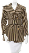Chloé Striped Belted Coat