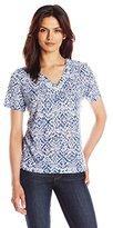 Alfred Dunner Women's Ethnic Print Knit Top