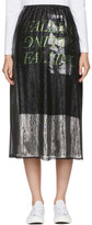 McQ Silver Lurex 'Falling' Skirt