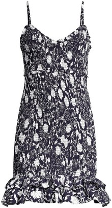 LIKELY Zephra Shirred Floral Mini Dress