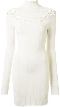 Dion Lee Cutout Lace-Up Mini Dress