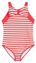 Kate Spade Girl's Stripe One-Piece Swimsuit