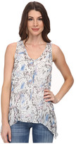 DKNY Tonal Butterfly Printed Tank Top