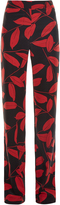 Marni Leaf-print straight-leg trousers
