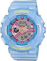 Casio BA110CA-2A Women's Baby-G Ana-Digi Grey Dial Resin Strap World Time Alarm Watch