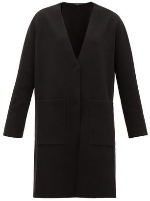 Max Mara Milva Longline Knitted-cotton Cardigan - Womens - Black