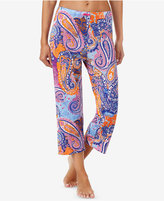 Ellen Tracy Printed Knit Cropped Pajama Pants