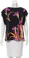 Louis Vuitton Sleeveless Floral Print Blouse