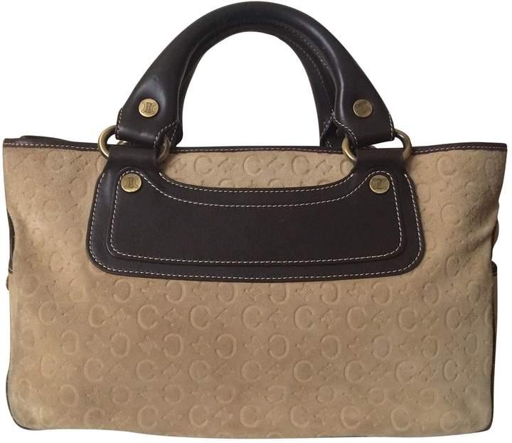 Celine Beige Leather Handbag Boogie