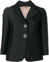 No.21 crystal button blazer - women - Cotton/Polyester/Acetate/Viscose - 40