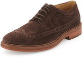 Ben Sherman Max Suede Wing-Tip Oxford, Chocolate