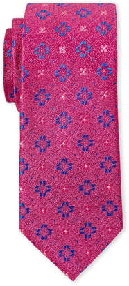 Ted Baker Pink & Blue Hollow Flower Silk Tie