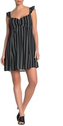 Luna Chix Striped Ruffle Strap Dress
