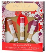 Pacifica Natural Color Quench Lip Tint Trio Collection - .45oz