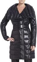 BCBGMAXAZRIA Emily Long Belted Puffer Coat