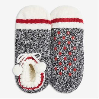 Joe Fresh Women's Low-Cut Slipper Socks, Black (Size O/S)
