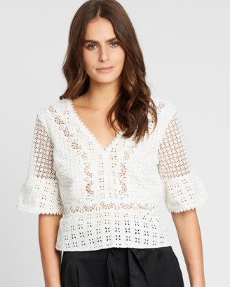 Abercrombie & Fitch 3/4 Sleeve Pretty Blouse