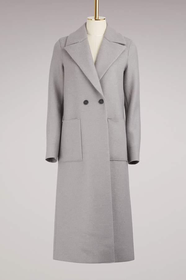 Harris Wharf London Boxy Duster Coat Pressed Wool