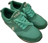 Polo Ralph Lauren Green Leather Trainers