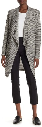 Bagatelle Draped Front Woven Knit Cardigan