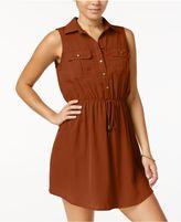 Be Bop Juniors' Sleeveless Drawstring Shirtdress