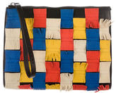 Marni Colorblock Fringe Clutch