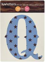 Wall Candy Arts WallCandy Arts Luv Letters Stars Q, Blue/