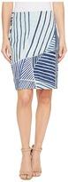 Nic+Zoe Palm Leaf Skirt Women's Skirt