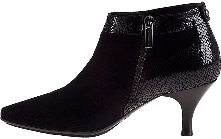Aquatalia by Marvin K Max Ankle Boot Anthracite Suede