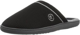 Isotoner Women's Waffle Knit Clog Slippers Black