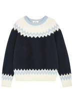 Demy Lee Navy Fair Isle Wool Blend Jumper