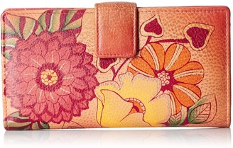 Anuschka Handpainted Leather Two Fold Summer Bloom Wallet