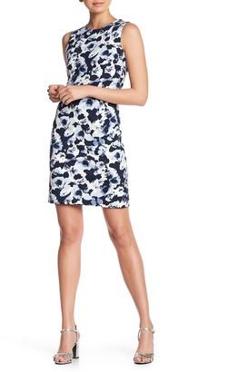 Amanda & Chelsea Printed Sleeveless Ponte Sheath Dress