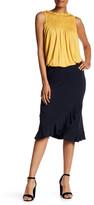 Max Studio Ruffle Hem Faux Wrap Skirt