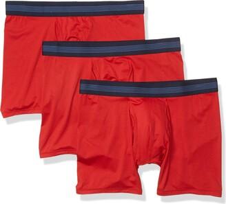 Goodthreads Men's Standard 3-Pack Lightweight Performance Knit Boxer Brief