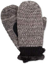 Isotoner Signature Women's Chenille Mittens with Leather Palm Patch