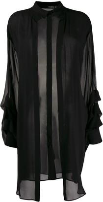 Isabel Benenato Longline Silk Blouse