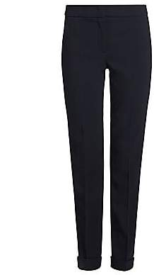 Giorgio Armani Women's Stretch Wool Slim Pants With Cuff