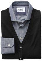 Charles Tyrwhitt Black Merino Wool Vest Size Large