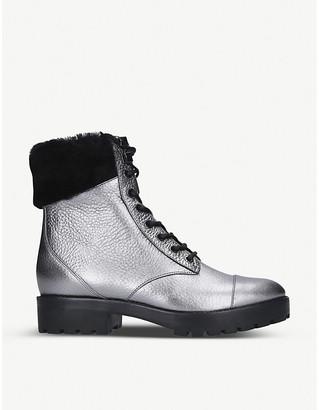 MICHAEL Michael Kors Cramer metallic leather ankle boots