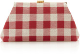 Mansur Gavriel Checker Mini Volume Clutch