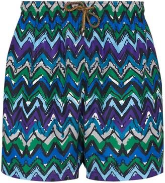 Missoni Zigzag-Print Swim Shorts