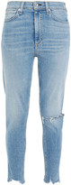 Thumbnail for your product : Rag & Bone Cropped Distressed Mid-rise Skinny Jeans